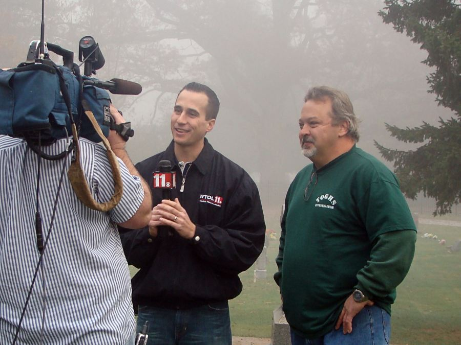 WTOL Interview at Wolfinger Cemetery
