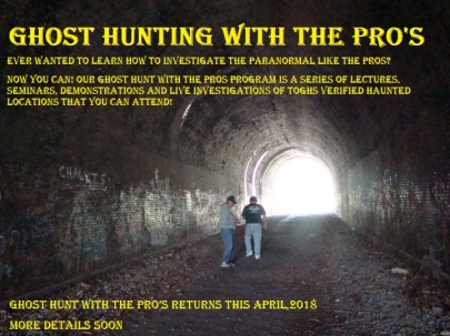 Ghost Hunt with the pro's 2018